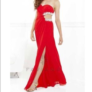 Red Faviana Prom Dress